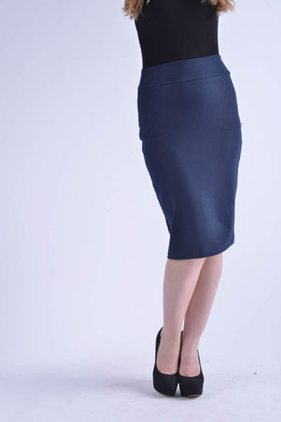 KMW Modal Pencil Skirt - Navy