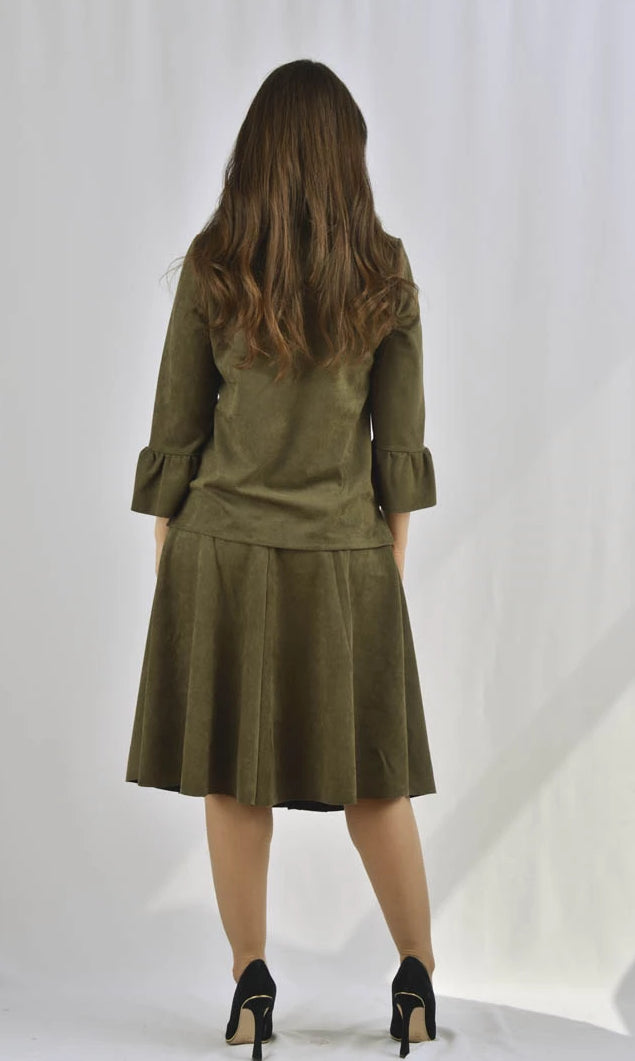 KMW Suede Swing Skirt