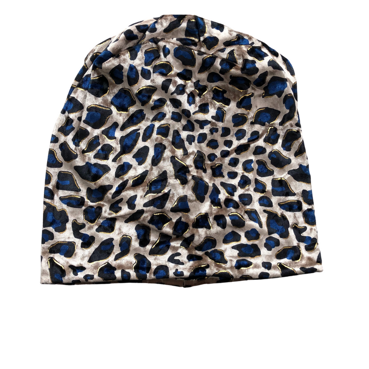 VB Bold Leopard Beanie -Royal Blue