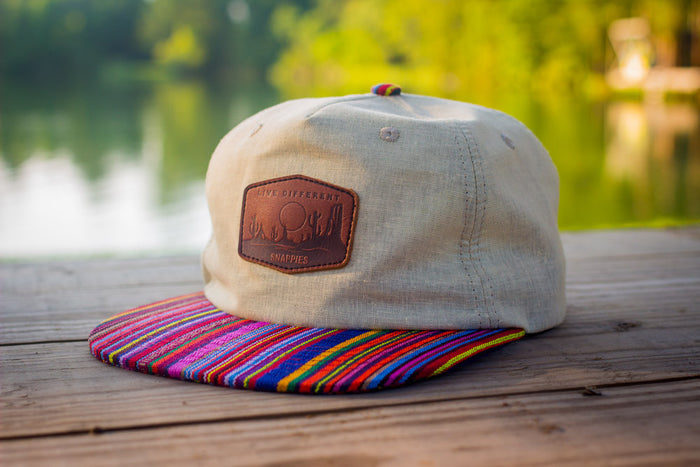 Snappies Hemp and Serape Snapback
