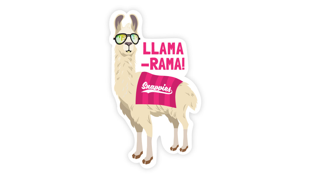 Snappies Llama Vinyl Sticker