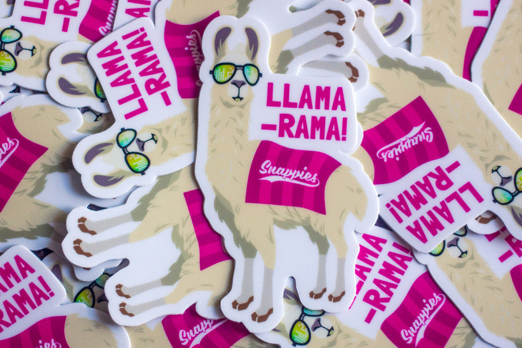 Snappies Llama-Rama Vinyl Sticker