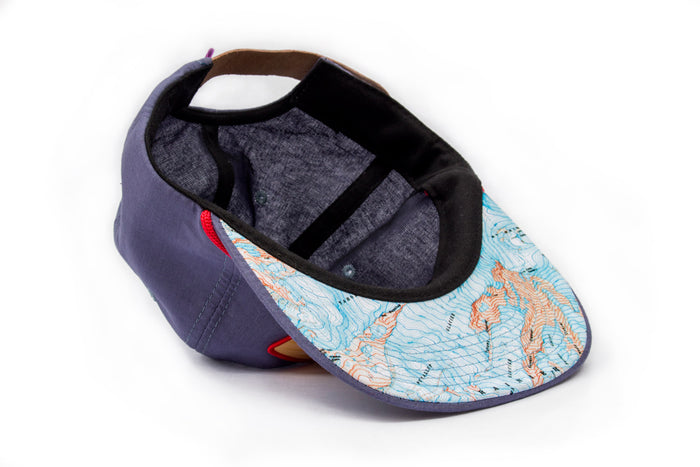 Topographic Rainier map hat