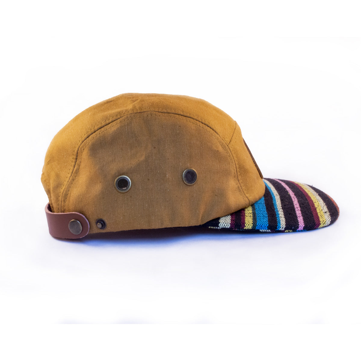 tan hemp camper hat