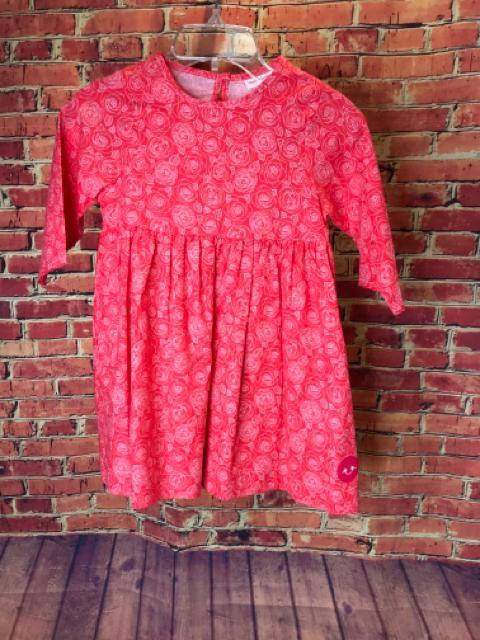 Girls Size 7 Girls Red SMILING BUTTON Dress - AdorableOnline