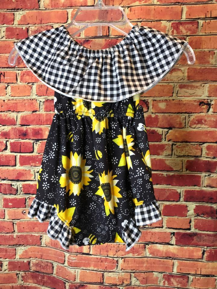 Girls Size 6-12mo Girls Black Clover Outfit - AdorableOnline