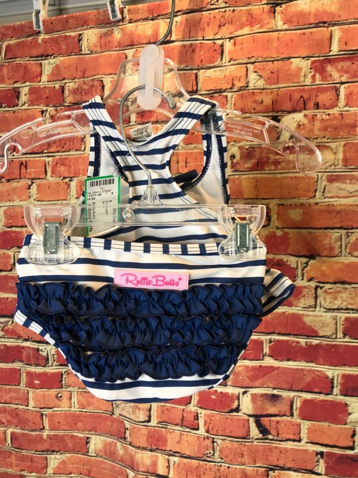 Girls Size 6mo Girls Navy Ruffle Butts Swimwear - AdorableOnline