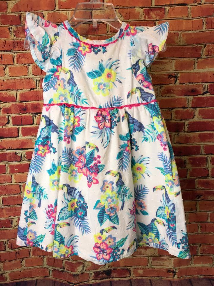 Girls Size 3T Girls White Penelope Mack Dress - AdorableOnline