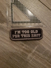 Im To Old Morale Patch