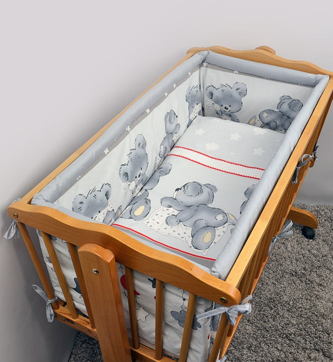Crib All Round Padded Thick Bumper 260 cm, 90x40 cm Crib Size - Mika - babycomfort.co.uk