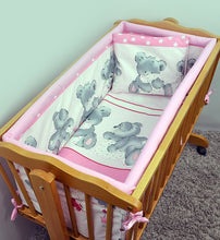 Load image into Gallery viewer, 6 Pcs Crib Bedding Set with Terry sheet + All-round Bumper 90x40 cm - Mika - babycomfort.co.uk