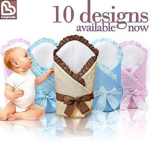Newborn Baby Swaddling / Swaddle Wrap / Sleeping Blanket / Duvet - Check - babycomfort.co.uk