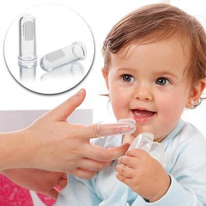 Newborn Toothbrush & Gum Massager / Silicon Finger Brush with Case - babycomfort.co.uk