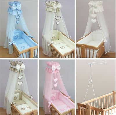 Deluxe Crib Bedding Accessories / Cradle Bumper Set, Canopy, Holder - babycomfort.co.uk