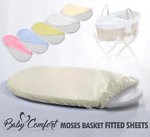 Load image into Gallery viewer, Moses Basket Fitted Sheet / Baby Terry / Towelling Oval Shape Sheets - babycomfort.co.uk