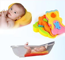 Load image into Gallery viewer, Bathtube Safety Sponge Mat Bath Support For Infant & Baby Over 6kg & 65cm Tall - babycomfort.co.uk