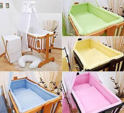 6 Pcs Crib Bedding Set with Terry sheet + All-round Bumper 90x40 cm