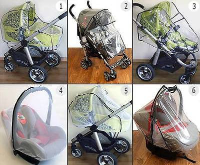 UNIVERSAL BABY STROLLER RAIN COVER / MOSQUITO NET FITS PRAM CAR SEAT CARRYCOT - babycomfort.co.uk