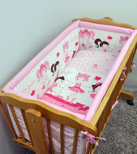 Load image into Gallery viewer, Large Padded Crib Bumper 260cm Long To Fit Regular Crib / Cradle 90x40 cm - babycomfort.co.uk