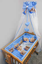 Load image into Gallery viewer, 8 Piece Nursery Baby Crib Bedding Set 90x40 cm Fits Rocking Swinging Crib Print - babycomfort.co.uk