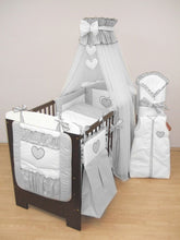 Load image into Gallery viewer, COT COT BED BEDDING SET 3 10 15 PIECE DUVET BUMPER CANOPY HOLDER - babycomfort.co.uk
