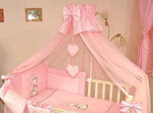 Load image into Gallery viewer, Stunning Baby Canopy Mosquito Net 480cm + Floor Stand Holder Fits Cot Bed Heart - babycomfort.co.uk