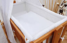 Load image into Gallery viewer, 5 Piece Crib Baby Bedding Set 90 x 40 cm Fits Rocking Swinging Cradle - Plain - babycomfort.co.uk