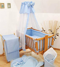 Load image into Gallery viewer, 8 Piece Crib Baby Bedding Set 90x40 Fits Nursery Rocking / Swinging Cradle Plain - babycomfort.co.uk