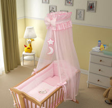Load image into Gallery viewer, 9 Piece Crib Baby Bedding Set 90 x 40 cm Fits Swinging / Rocking Cradle - Moon - babycomfort.co.uk