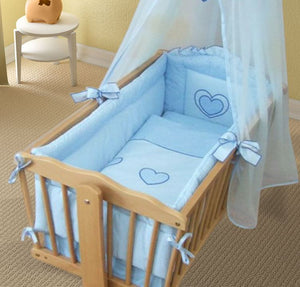 Crib All Round Bumper 260cm Long Covers 4 Sided of Cradle 90x40 cm Heart - babycomfort.co.uk