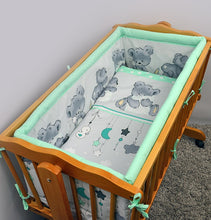 Load image into Gallery viewer, Crib All Round Padded Thick Bumper 260 cm, 90x40 cm Crib Size - Mika - babycomfort.co.uk