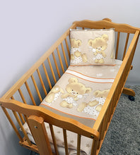 Load image into Gallery viewer, 4 Pcs Crib Set 70x80 cm, Quilt & Pillow Covers - Mika - babycomfort.co.uk