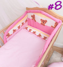 Load image into Gallery viewer, 6 Piece pcs Baby Bedding Set Nursery Bumper To Fit Cot 120x60 Cot Bed 140x70 - babycomfort.co.uk
