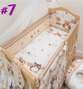 All Round Cot, Cot bed Bumper 4 Sided Pads with Pattern or Plain - babycomfort.co.uk