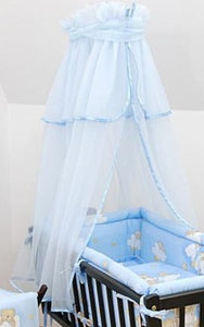 Crown Canopy / Drape / Mosquito Net To Fit Crib / Cradle / Moses Basket - babycomfort.co.uk