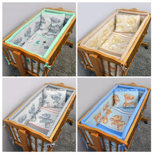 Load image into Gallery viewer, Cotton 5 Piece Crib Baby Bedding Set 90x40 Fits Rocking Cradle - Mika