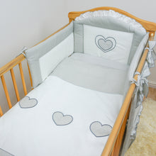 Load image into Gallery viewer, COT COT BED BEDDING SET 3 10 15 PIECE DUVET BUMPER CANOPY HOLDER