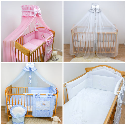 15 Pcs Baby Bedding Set Cot Tidy Sleeping Wrap Fits Cot Cot Bed Moon