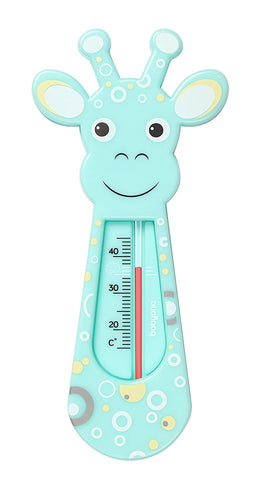 Baby Safe Bath Thermometre Float Floating Water Temperature - Giraffe Turquoise - babycomfort.co.uk