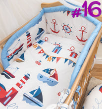 Load image into Gallery viewer, 3 Pcs Piece Nursery Baby Bedding / Duvet Set Padded Safety Cot Bed Bumper - babycomfort.co.uk