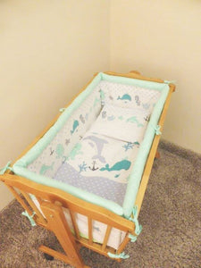 4 Piece Crib Duvet Quilt Set Baby Bedding With Cover Fits Cradle Basket Pram - babycomfort.co.uk