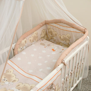 3 Pcs Bedding Set 190cm Padded Cot Bed Bumper 140x70 cm - Mika - babycomfort.co.uk