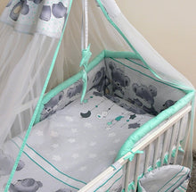 Load image into Gallery viewer, 3 Pcs Bedding Set 190cm Padded Cot Bed Bumper 140x70 cm - Mika - babycomfort.co.uk