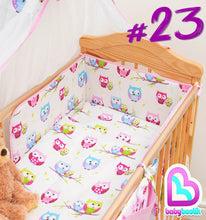 Load image into Gallery viewer, 6 Piece Baby Toddler Cot CotBed Bedding Set Regular Safety Bumper + Cotton Sheet - babycomfort.co.uk
