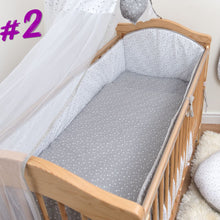 Load image into Gallery viewer, All Round Cot, Cot bed Bumper 4 Sided Pads with Pattern or Plain - babycomfort.co.uk