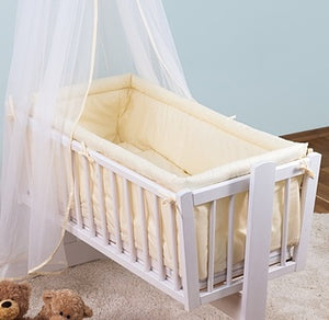 6 Pcs Crib Bedding Set with Terry sheet + All-round Bumper 90x40 cm - babycomfort.co.uk