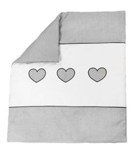 Load image into Gallery viewer, EMBROIDERED QUILT / DUVET FILLING FITS CRIB / PRAM  - LOVE HEART - babycomfort.co.uk