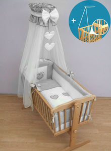 CROWN DRAPE / CANOPY NETTING FITS CRIB / CRADLE / MOSES BASKET CHECK PATTERN - babycomfort.co.uk