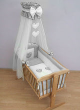 Load image into Gallery viewer, Crib All Round Bumper 260cm Long Covers 4 Sided of Cradle 90x40 cm Heart - babycomfort.co.uk