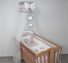 Load image into Gallery viewer, CROWN DRAPE / CANOPY NETTING FITS CRIB / CRADLE / MOSES BASKET CHECK PATTERN - babycomfort.co.uk